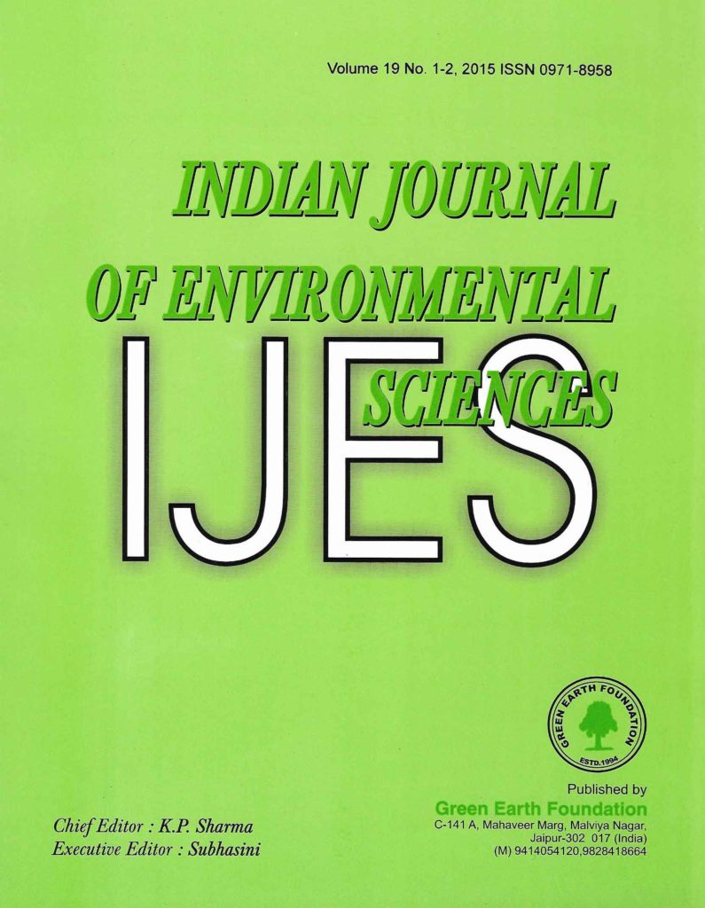 Indian Journal Of Environmental Sciences